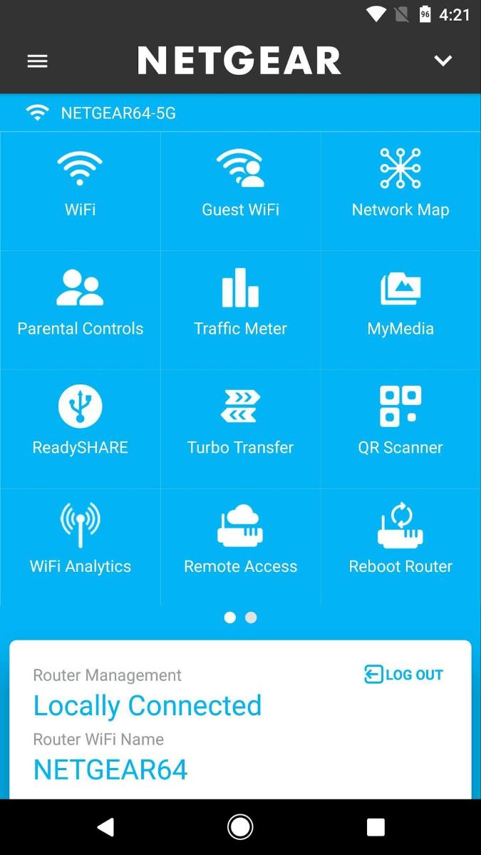 Netgear genie mobile app Settings