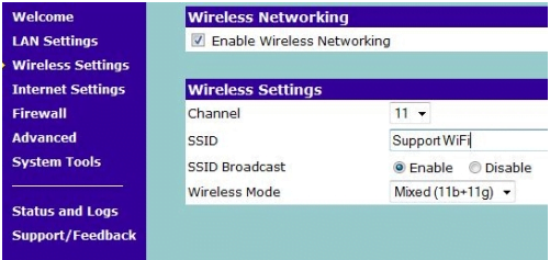 3COM Router Network Settings