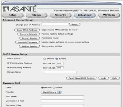 Asante Router Admin Login Password Change
