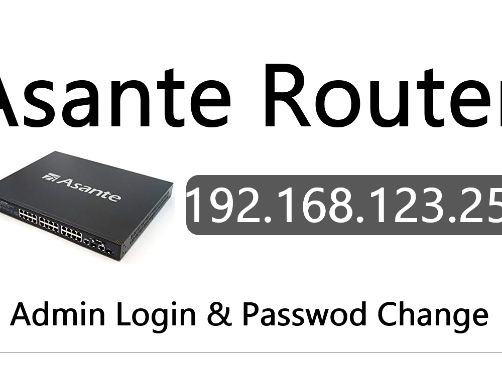 192.168.123.254 Asante Router Admin login, Password Change