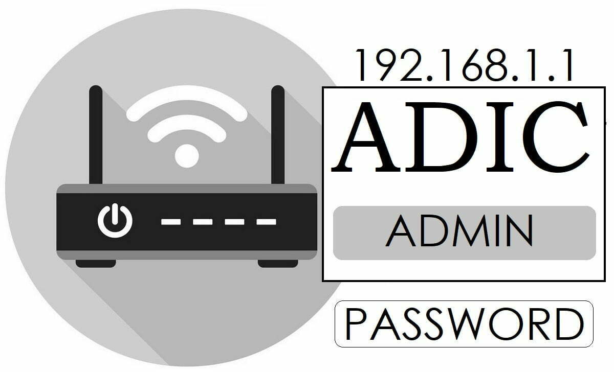 192.168.1.1 ADIC WiFi Router Admin Password