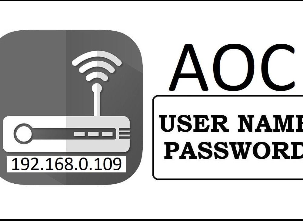 192.168.0.109 AOC Router Admin Login & Password Change