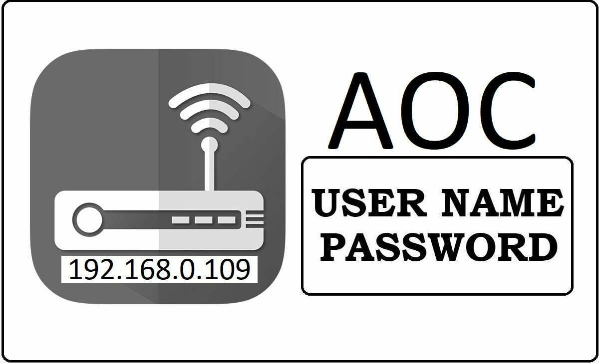 AOC Router Admin Login Password Change