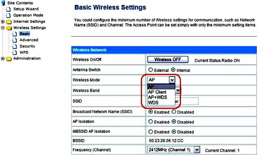 AOC Router Wireless Basic Settings