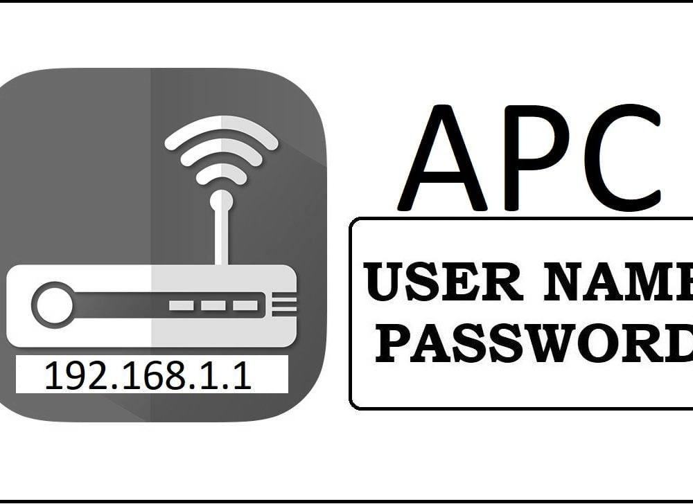 192.168.1.1 APC Router Admin Login Password Change