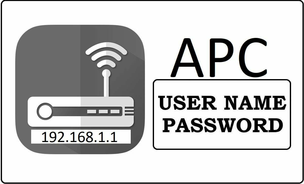 APC Router Admin Login and Password Change