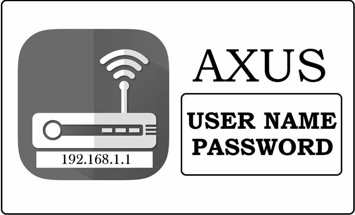 192.168.1.1 Axus Router Admin Login Password Change