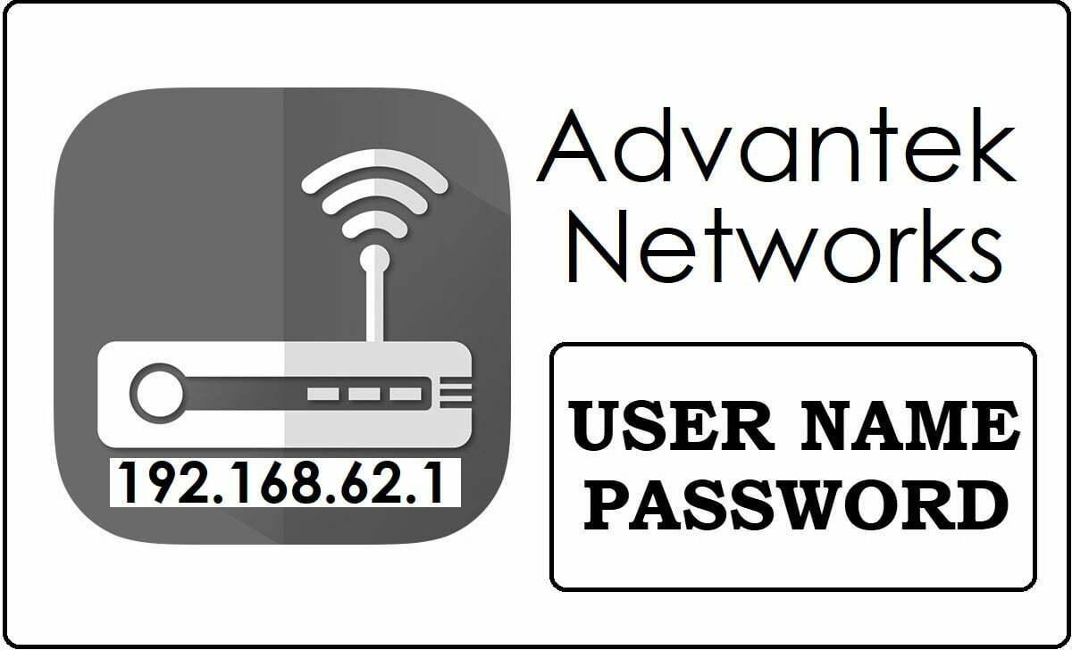 192.168.62.1 Advantek Networks Router Admin Username and Password Change
