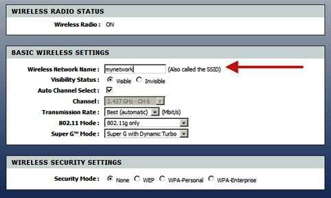 Alexala Router Wireless Settings