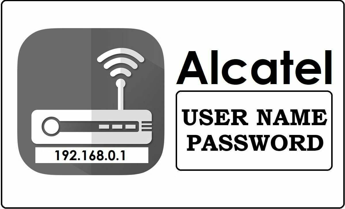 192.168.0.1 Alcatel Router Admin Login Password Change