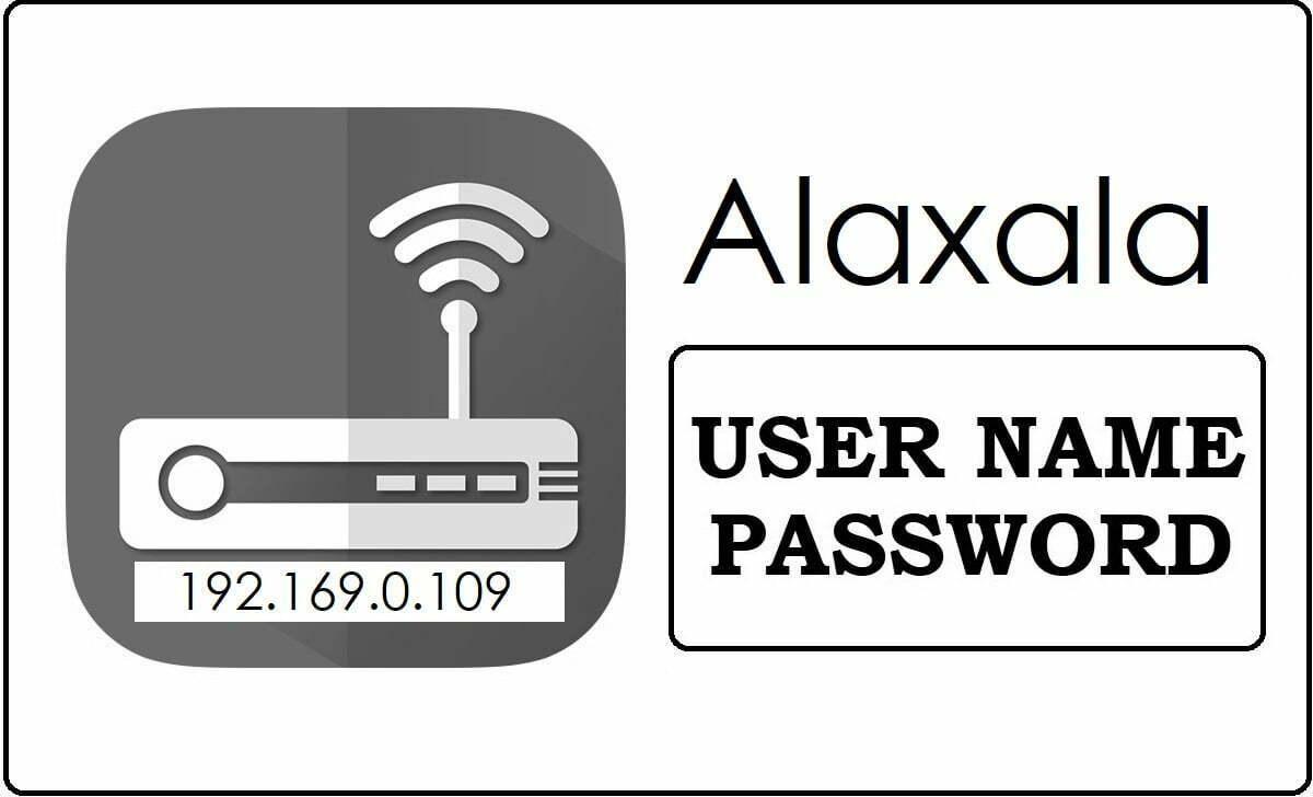 192.169.0.109 Alexala Wifi Router Admin Login Password Change