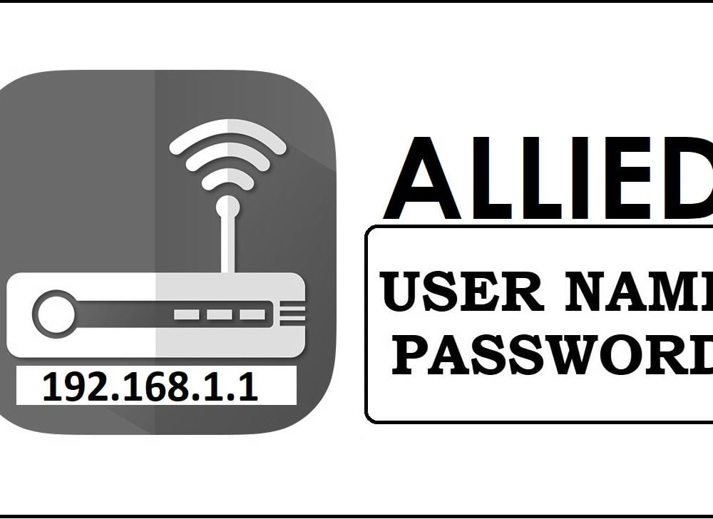 192.168.1.1 Allied Router Admin login, Password Change
