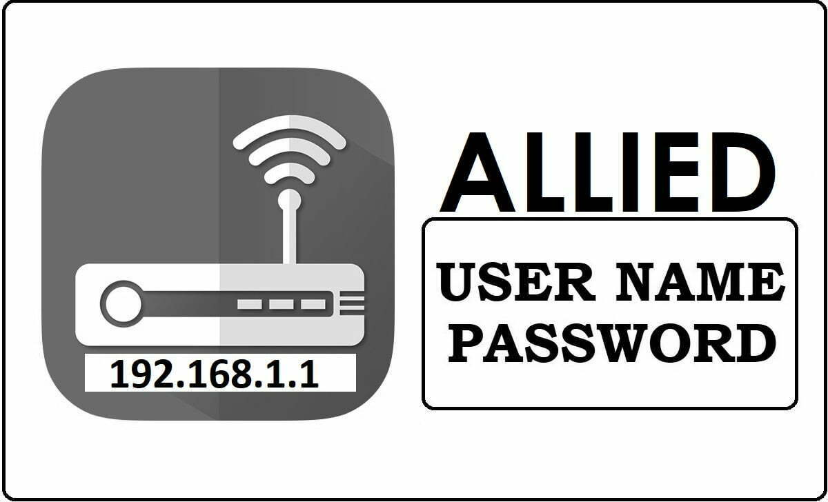 Allied Router Admin Login Password Change