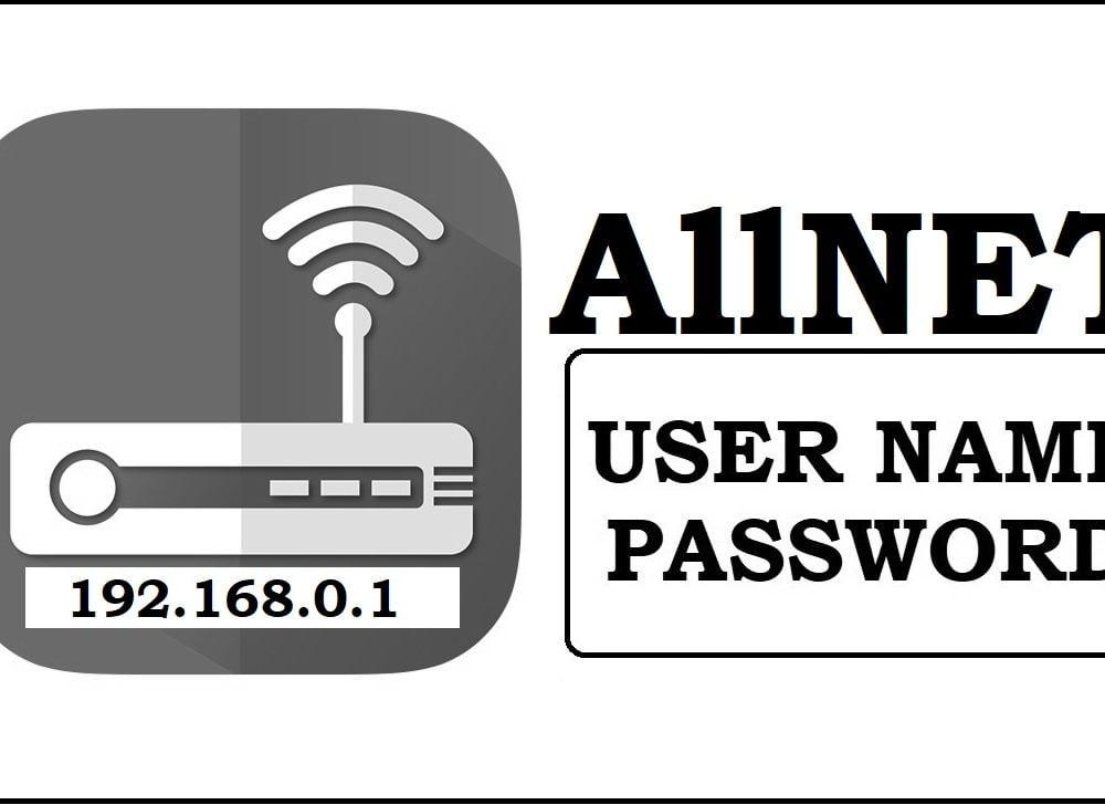 192.168.0.1 AllNet Admin login, Password Change