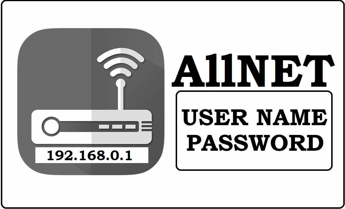 192.168.0.1 Allnet Networks Router Admin Login Password Change