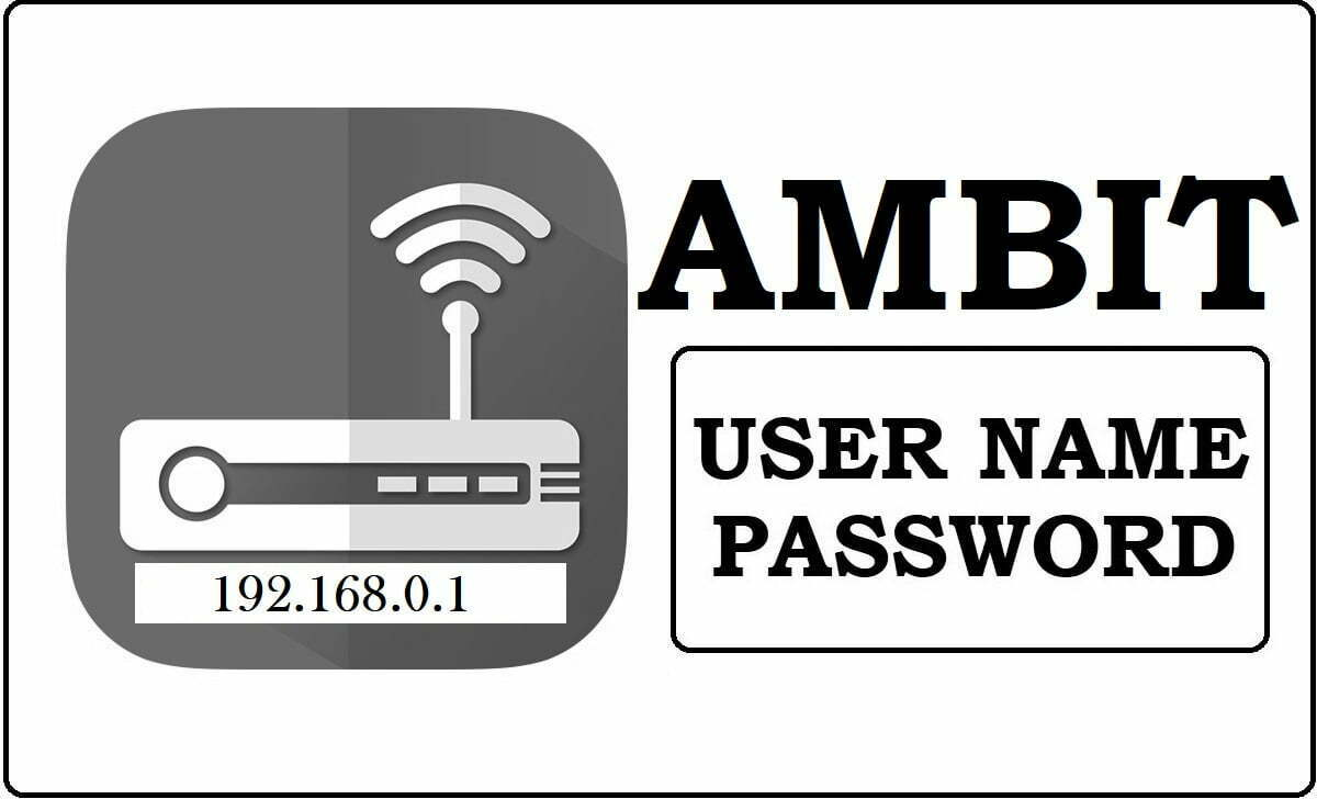 192.1.168.0.1 Ambit Router Admin Login