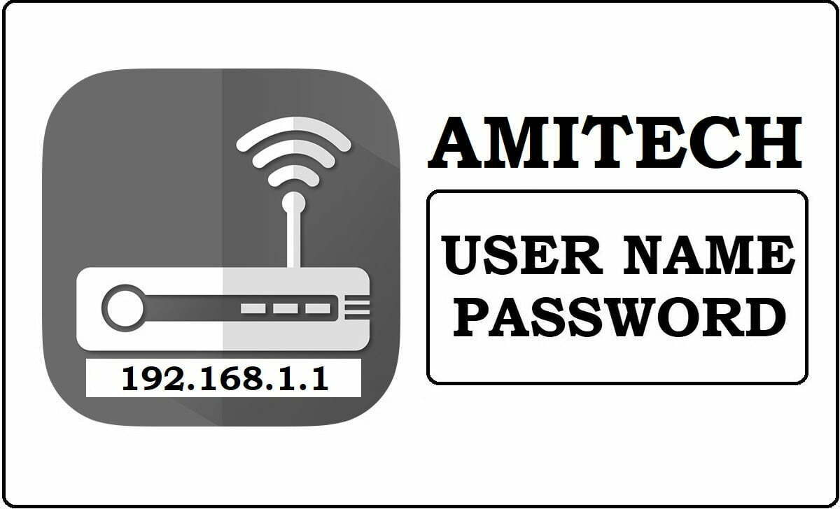 192.168.1.1 Amitech Router Admin Login Password Change