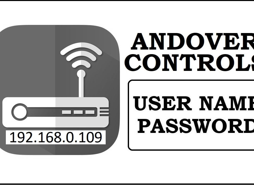 192.168.0.109 Andover Controls Router Admin Login Password Change