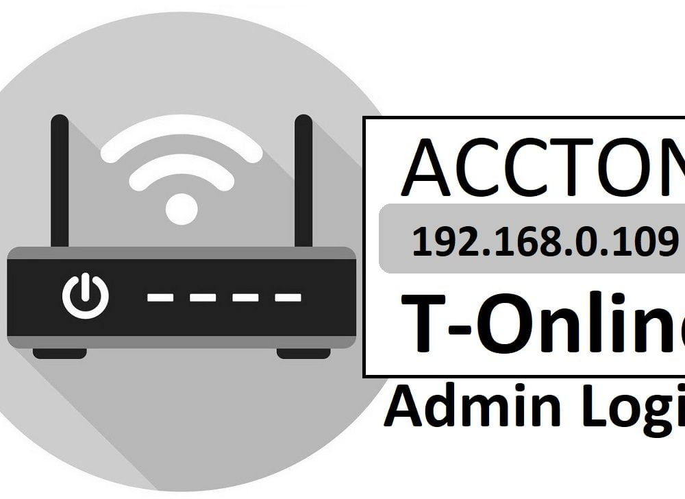 192.168.0.109 Accton T-Online Router Admin Login & Password Change