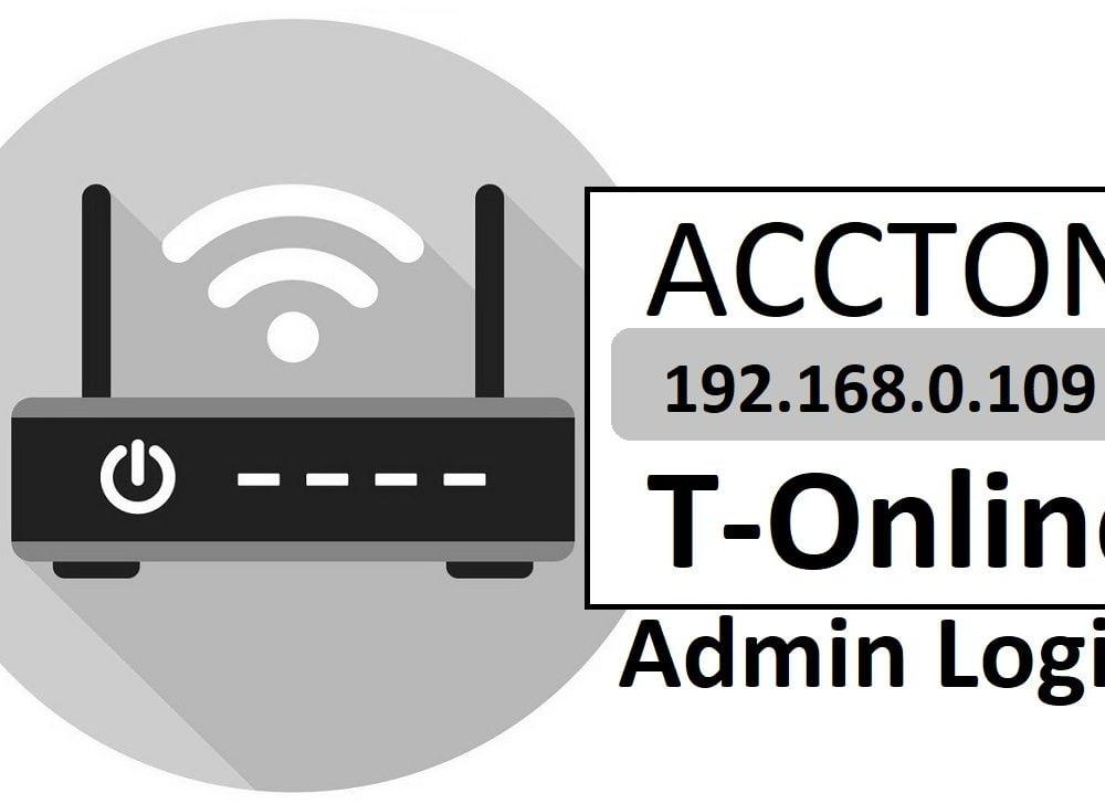 192.168.0.109 Accton T-Online Router Admin Login & Password Change