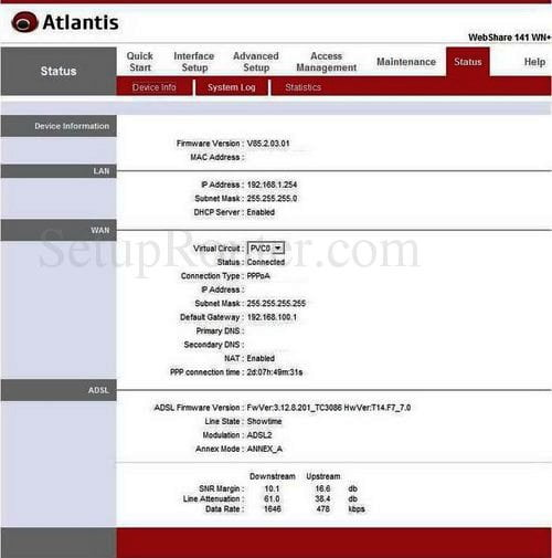 Atlantis Wifi Router Wireless Settinga