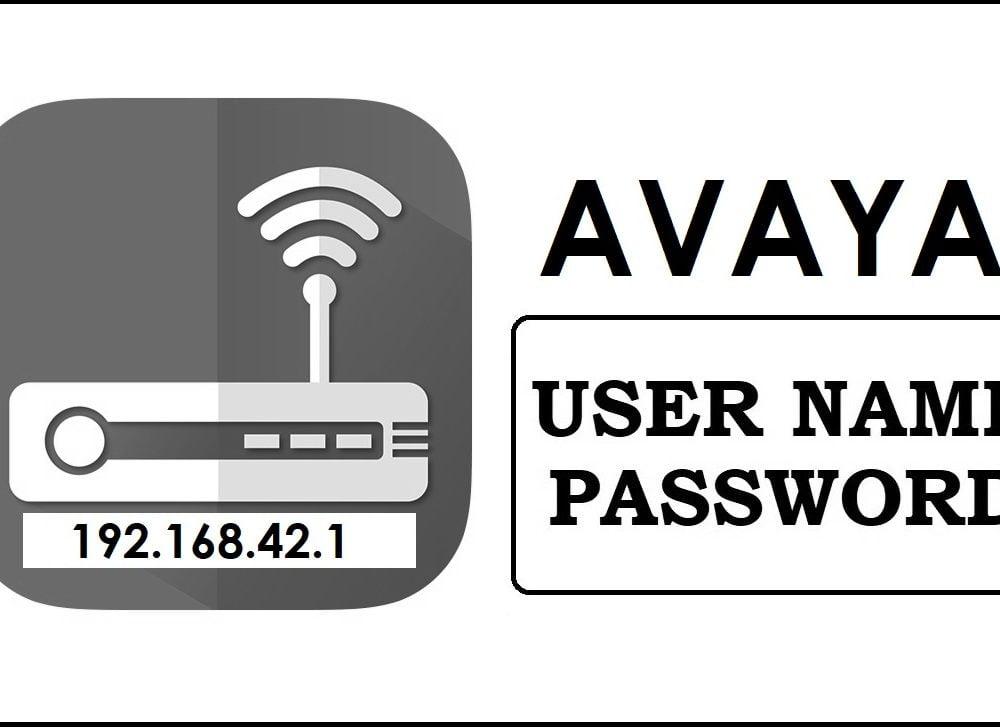 192.168.42.1 Avaya Router Admin login, Password Change