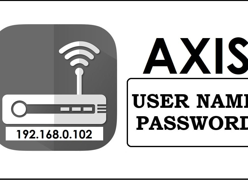 192.168.0.102 Axis Router Admin login, Password Change
