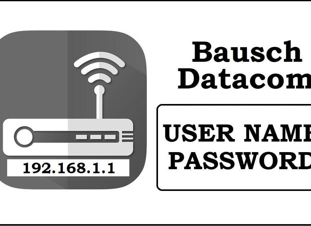 192.168.0.109 Bausch Datacom Router Admin Login Password Change