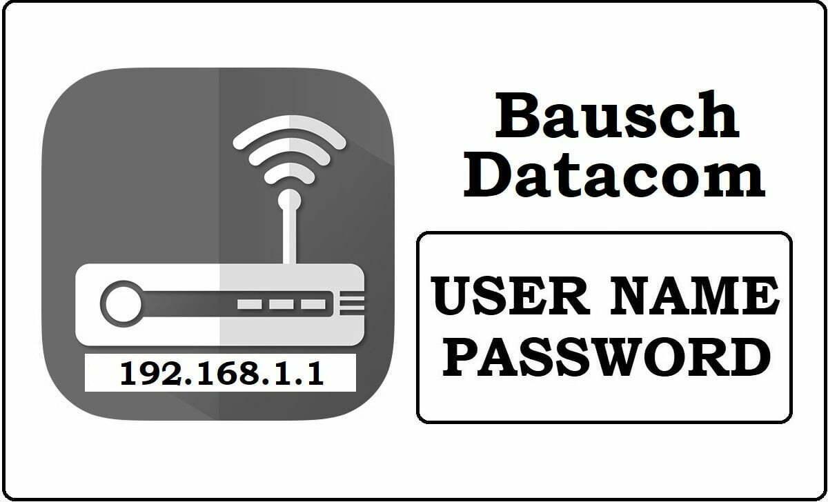 192.168.1.1 Baush Datacom wifi Router