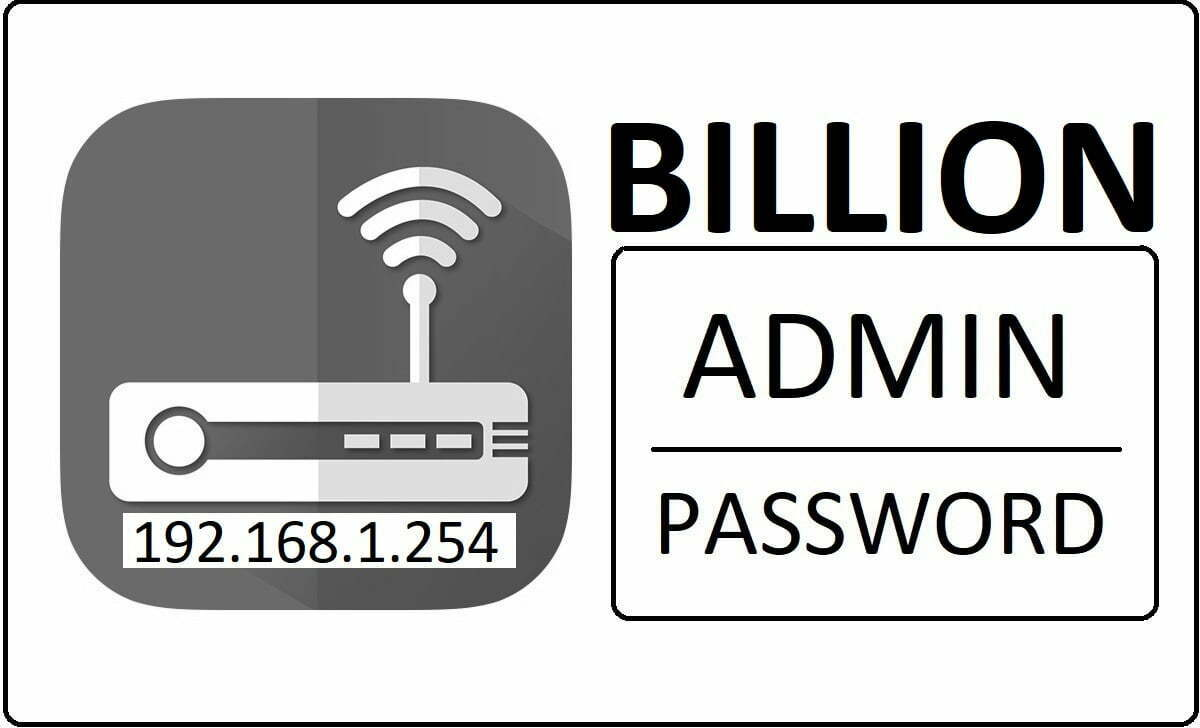Billion Networks Router Admin Password Change