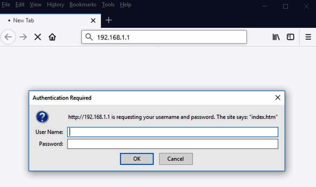 192.168.1.1 Breezecom Router Admin Login