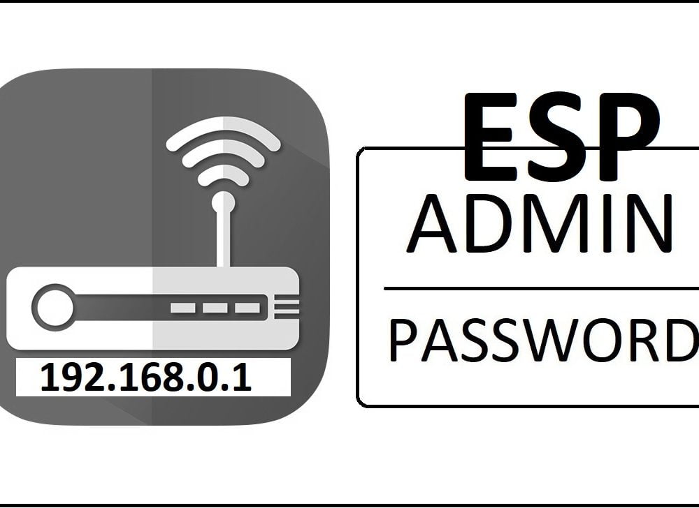 192.168.0.1 ESP Router Admin Login Password Change