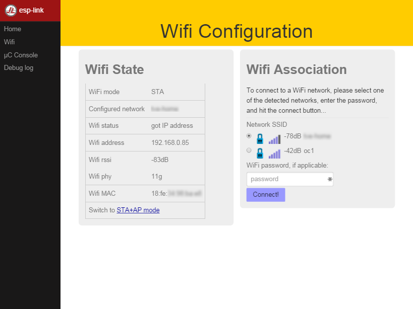 ESP Networks Router WiFi Settings