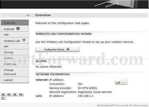 Ericsson Router Admin Login