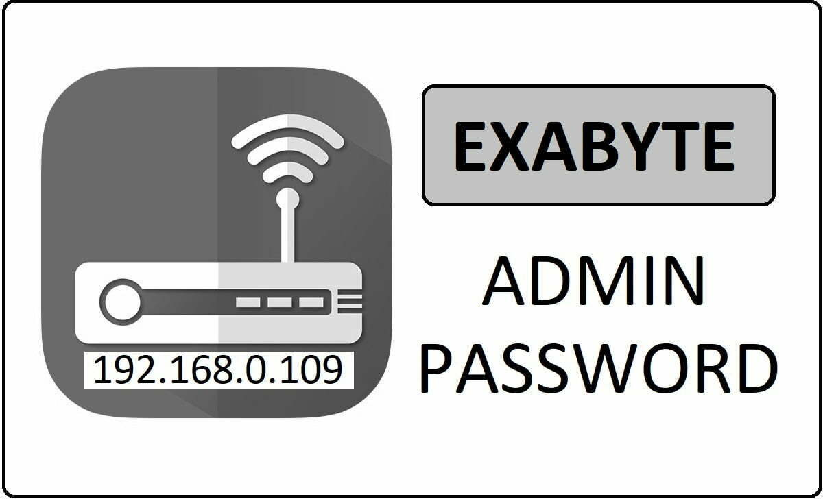 Exabyte Router Admin Login Password Change