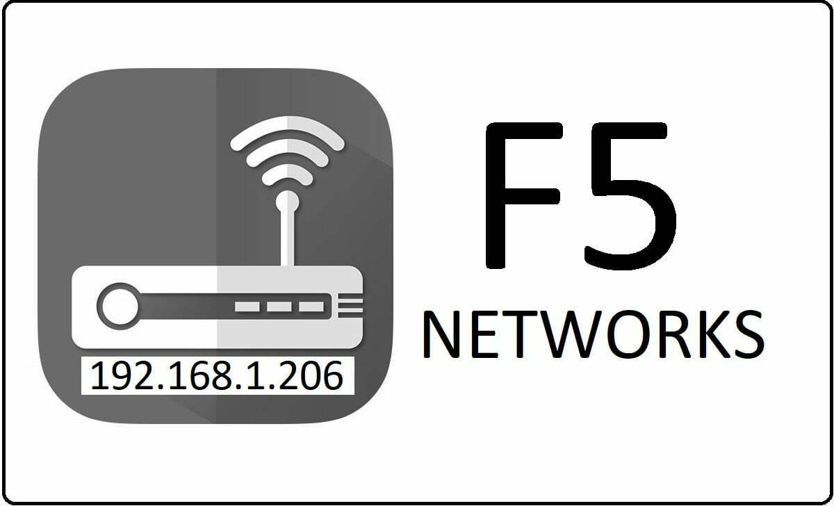 192.168.1.206 F5 Networks Router Admin Login Password Change
