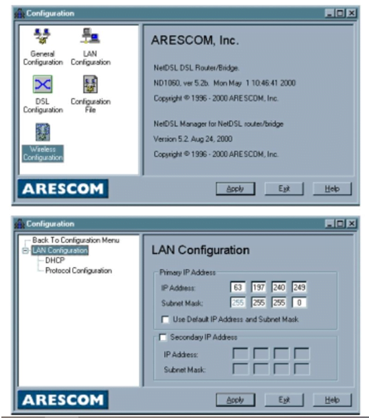 Arescom Router Wireless Settings