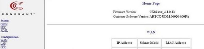 10.0.0.2 Conexant Router Admin Login
