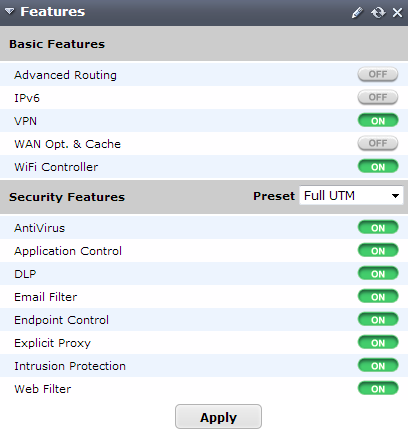 Fortinet Router Security Features Settings