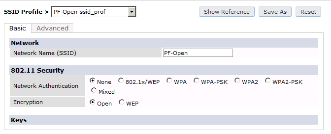 Foundry Networks Router Network Settings