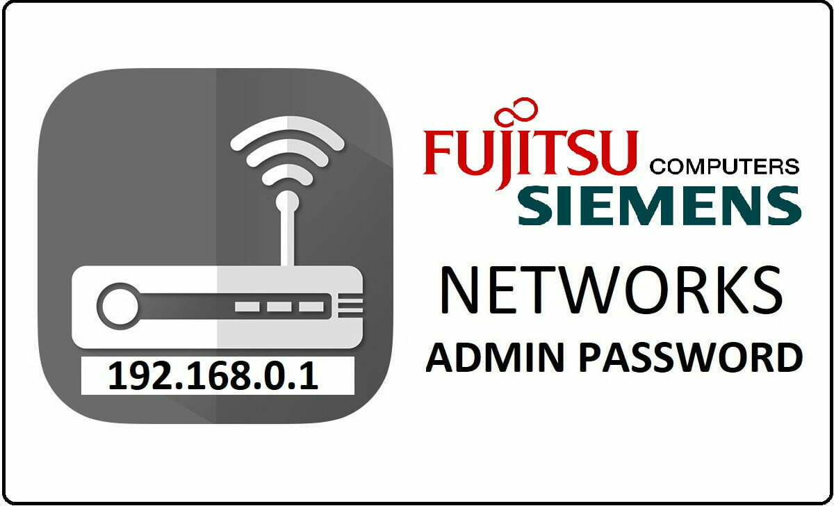 Fujitsu Siemens Router Admin Login Password Change