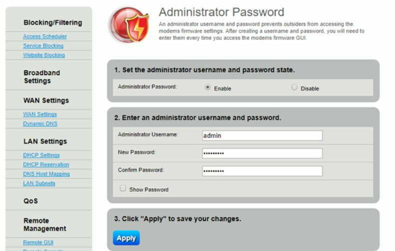 Fujitsu Siemens Router Admin Password Change