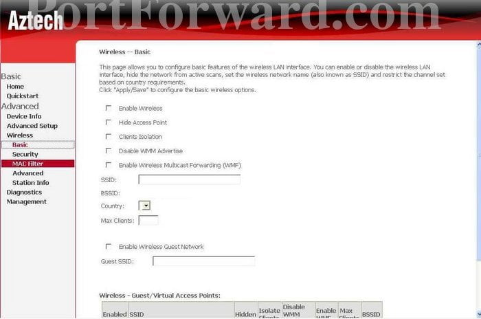 GVC Router Basic Network Settings