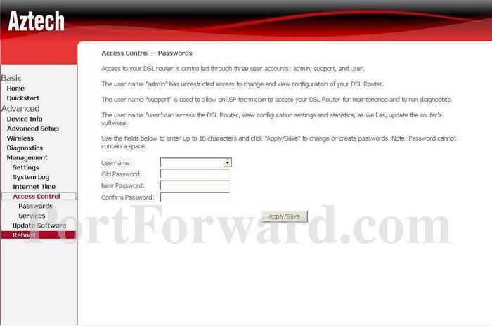 GVC Networks Router Access Control Settings