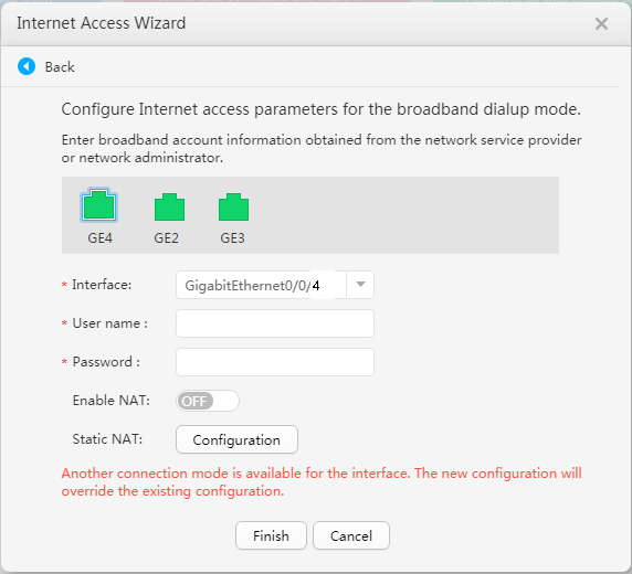 Huwai Router Network Settings