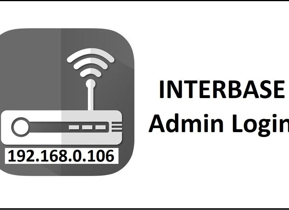 192.168.0.106 Interbase Router Admin Login Password Change