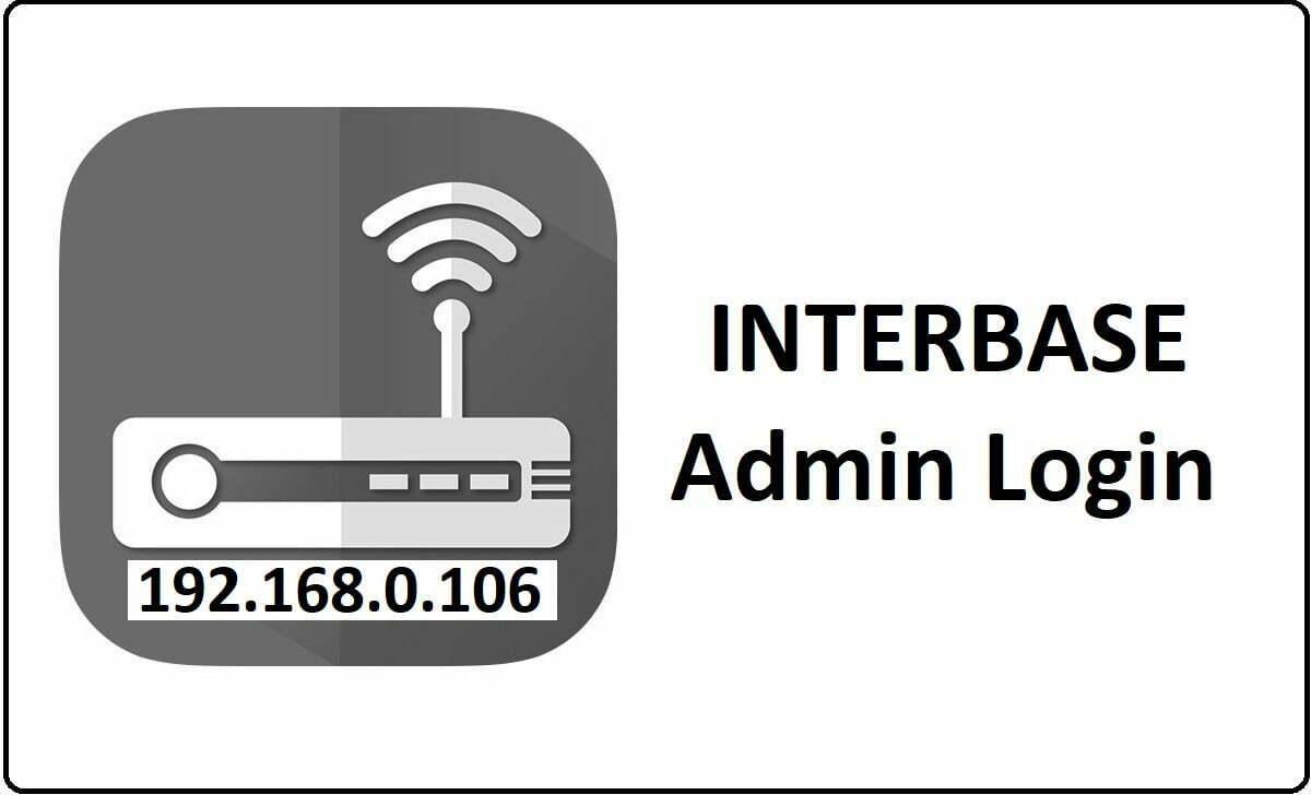 Interbase Router Admin Login Password Change