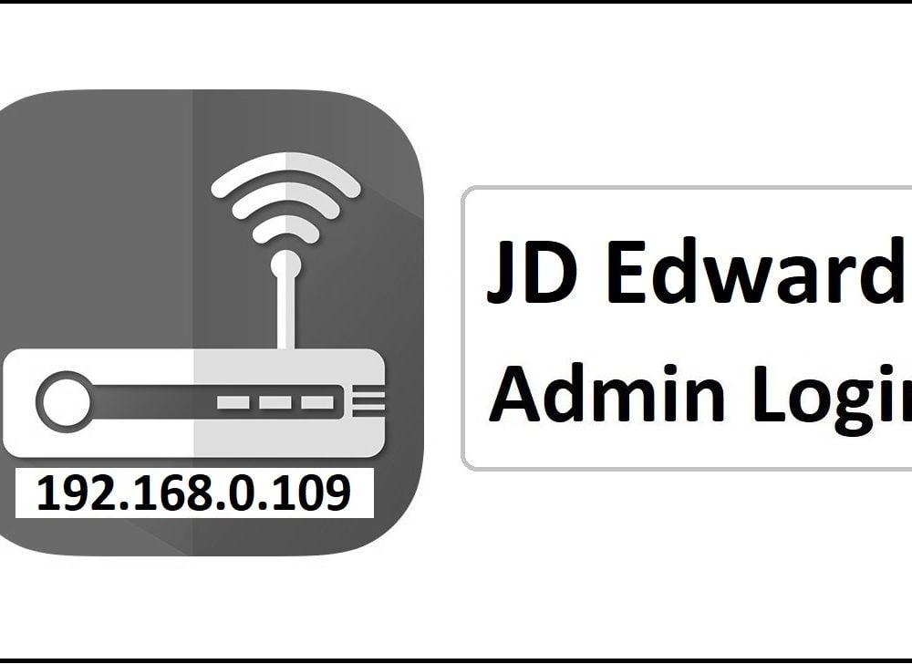 192.168.0.109 JD Edwards Router Admin Login Password Change