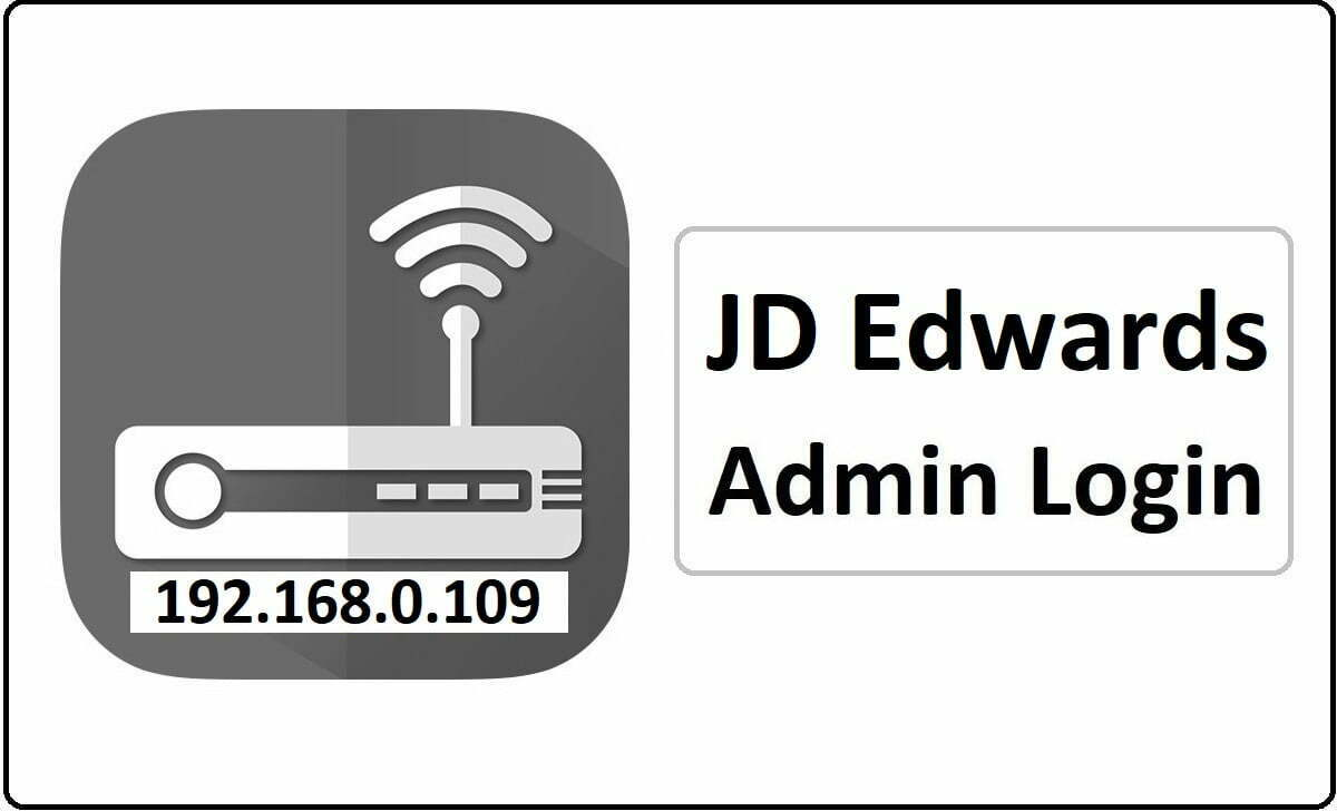 JD Edwards Router Admin Login Password Change