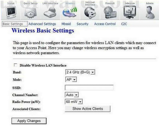 Logitech Wireless Basic Settings